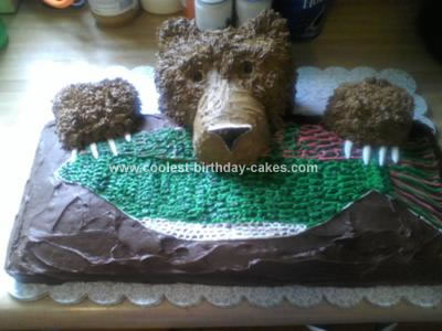 Astonishing Coolest Bear Cub Birthday Cake Funny Birthday Cards Online Aboleapandamsfinfo
