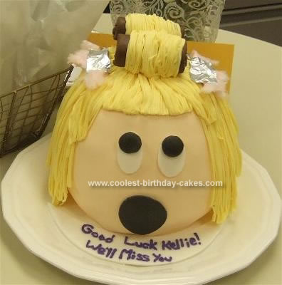 Homemade Beauty School Cake