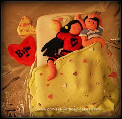 Homemade Bed Birthday Cake
