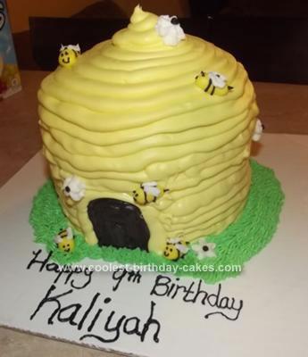 Homemade Bee and Hive Cake