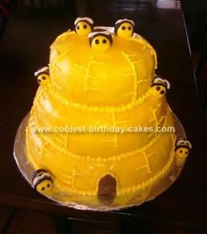 Homemade Beehive Birthday Cake