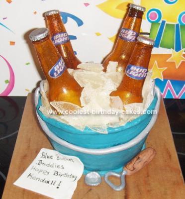 Sugar Beer Bottle Cake