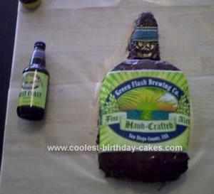 Homemade Beer Bottle Cake