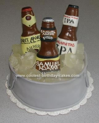 Homemade Beer Bucket Cake