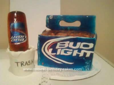 Homemade Beer Cake Design