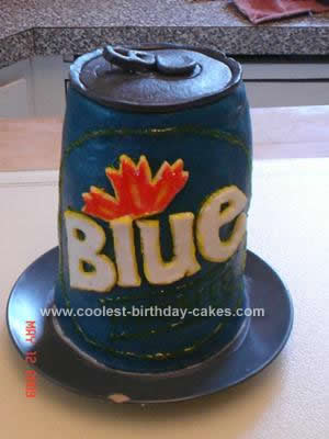 Homemade Beer Cake Design