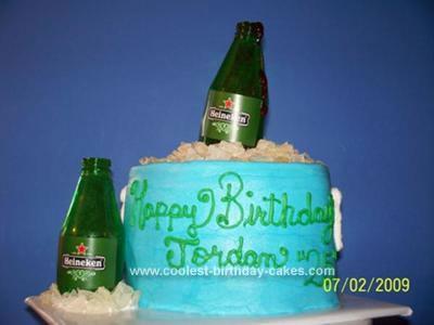 Homemade Beer Cooler Birthday Cake