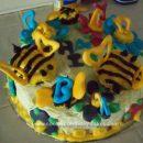 Homemade BEE-utiful Birthday Cake
