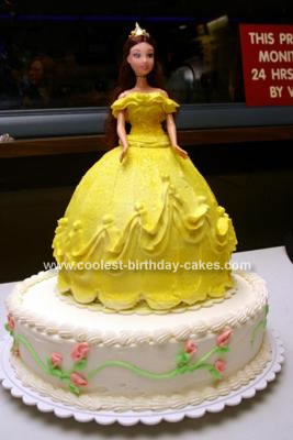 Homemade Beautiful Belle Birthday Cake
