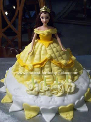 Homemade Belle Birthday Cake