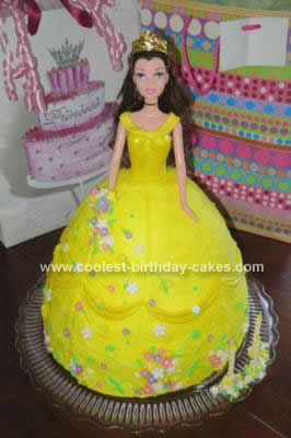 Homemade Belle Birthday Cake