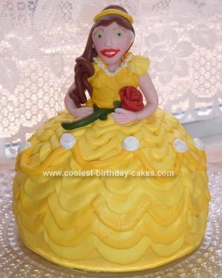 belle birthday cake cake made with the wilton sports pan 1641
