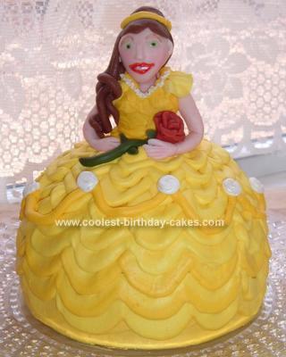 Homemade Beauty & the Beast Belle Cake