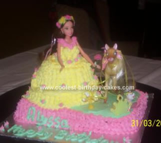 Homemade Belle Princess Cake