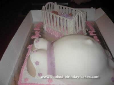 Homemade Belly Cake and Crib Cake