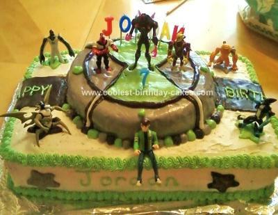 Homemade Ben 10 Alien Force Cake