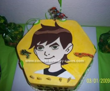 Homemade Ben 10 Birthday Cake
