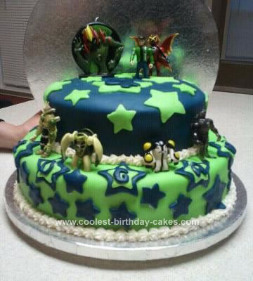 Homemade Ben 10 Cake