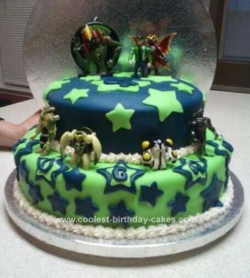 Homemade Ben 10 Cake