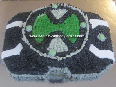 Homemade Ben 10 Watch Birthday Cake