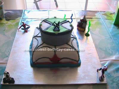 Homemade Ben 10 Birthday Cake Design