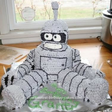 Homemade Bender B Rodriguez from Futurama Cake