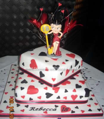 Fine Coolest Homemade 3 Tiered Betty Boop Birthday Cake Birthday Cards Printable Opercafe Filternl