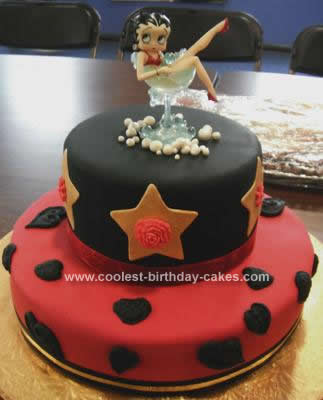 Awesome Homemade Betty Boop Birthday Cake