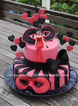 Homemade  Betty Boop Masquerade Birthday Cake