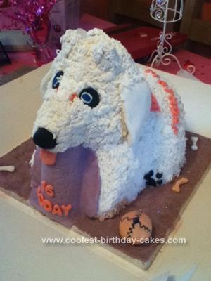 Homemade Bichon Fries Puppy 16th Birthday Cake