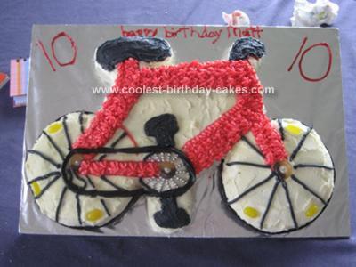 Homemade Bicycle Cake