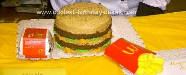 Homemade Big Mac Cake Design