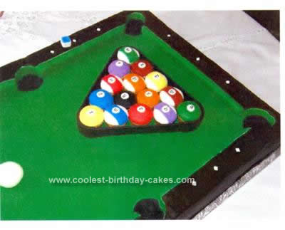 Homemade Billiard Table Cake Idea