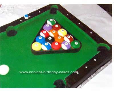 Homemade Billiard Table Cake Idea