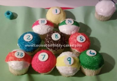 Homemade Billiards Cupcakes