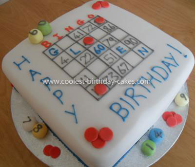 Bingo Birthday Cake