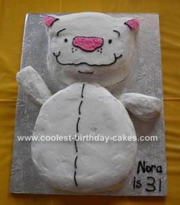 Homemade Binoo 3rd Birthday Cake
