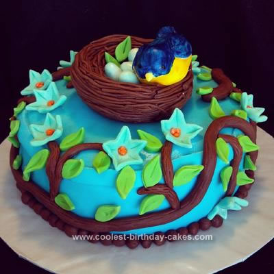 Fantastic Coolest Bird And Nest Cake Personalised Birthday Cards Cominlily Jamesorg