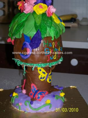 Homemade Bird House Cake