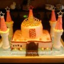 Homemade Birthday Castle Cake