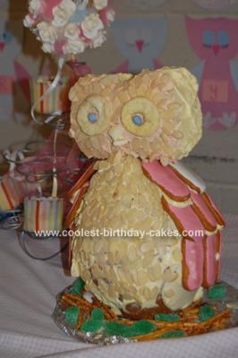 Homemade Birthday Owl Cake