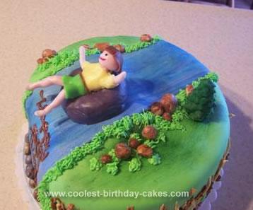 Homemade Birthday River Tubing Cak