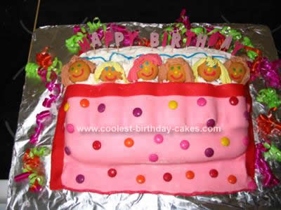 Homemade Birthday Slumber Party Cake Design
