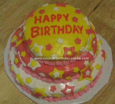 Homemade Birthday Stars Cake