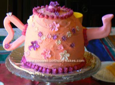 Homemade Birthday Tea Pot Cake