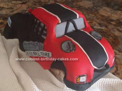Homemade BJ's Trophy Truck Cake