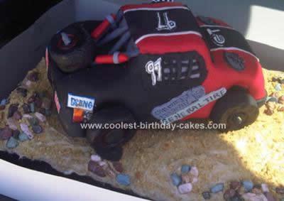 Wondrous Coolest Bjs Trophy Truck Cake Funny Birthday Cards Online Overcheapnameinfo