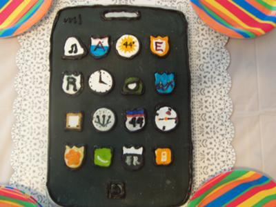 Homemade Black iPod Birthday Cake