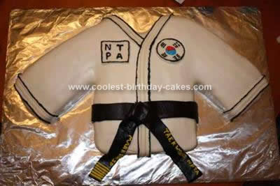 Homemade Blackbelt Birthday Cake
