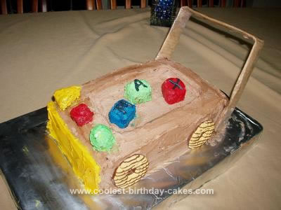 Homemade Block Trolley Cake